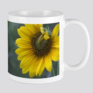 Sunflower with Tiny Bee Mug