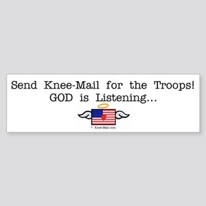 Send KNEE-Mail for the Troops Bumper Sticker