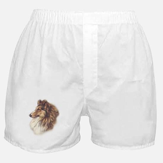Vintage Sable Collie Boxer Shorts