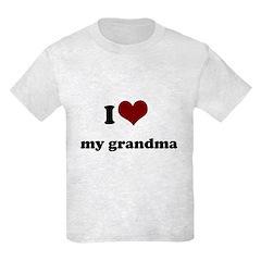 i heart my grandpa/ grandma T-Shirt