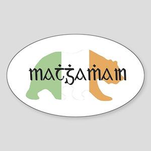 Irish Bear Oval Sticker