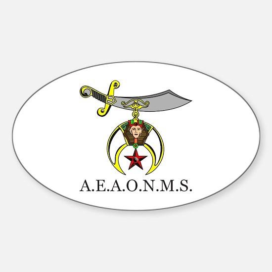 PHA Shrine Design No. 2 Sticker (Oval)