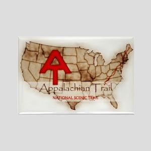 Antique Appalachian Trail Rectangle Magnet