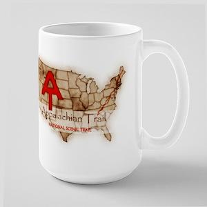 Antique Appalachian Trail Large Mug