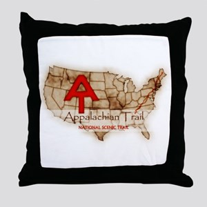 Antique Appalachian Trail Throw Pillow