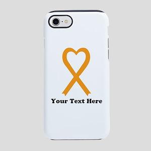 Personalized Orange awarenes iPhone 8/7 Tough Case