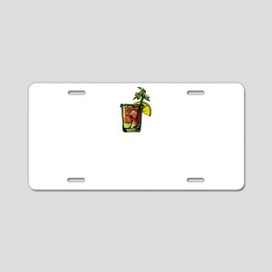Bloody Mary Making Mornings Aluminum License Plate