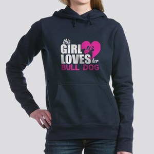 This Girl Love Her Bull Dog T Shirt Sweatshirt