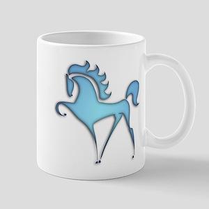 Stylized Horse (blue lt) Mug