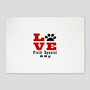 Love Field Spaniel Dog Designs 5'x7'Area Rug