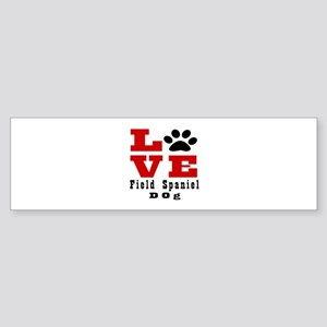 Love Field Spaniel Dog Designs Sticker (Bumper)