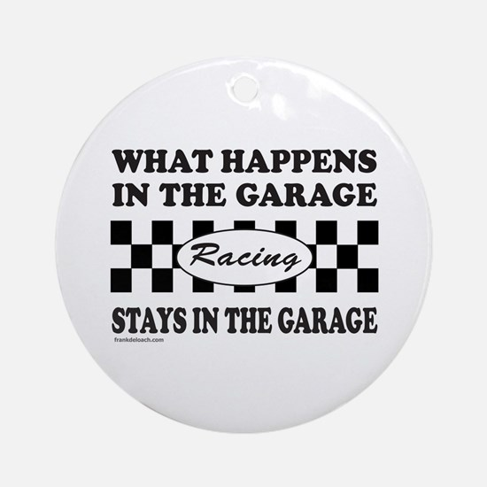AUTO RACING Ornament (Round)