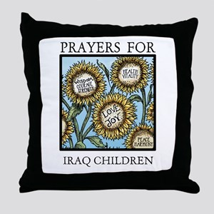 IRAQ CHILDREN Throw Pillow