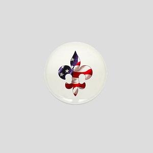 Fleur de lis Stars & Stripes Mini Button