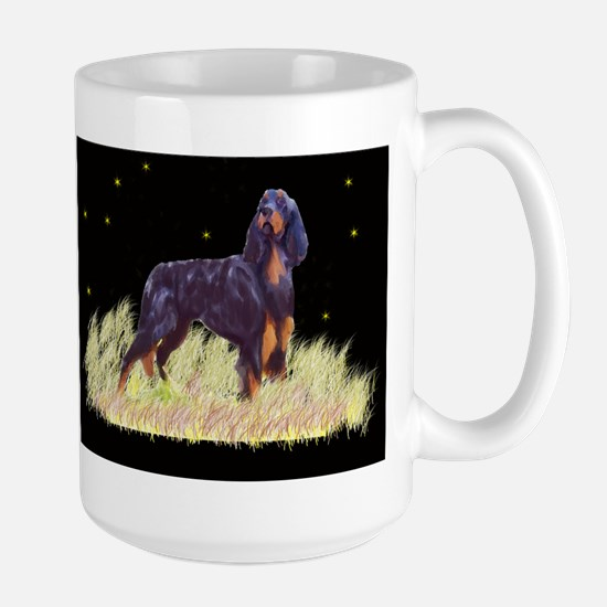 Gordon Setter portrait Large Mug