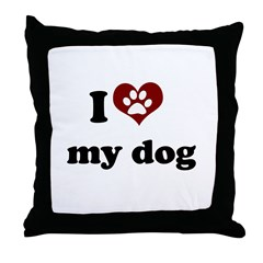 i heart my dog Throw Pillow