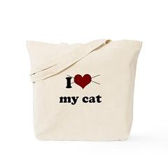 i heart my cat Tote Bag