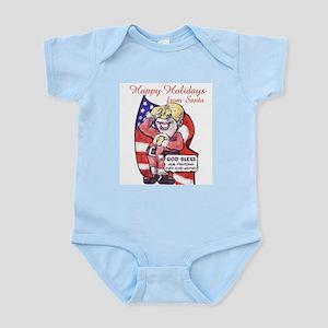 Infant Creeper Patriotic Santa.