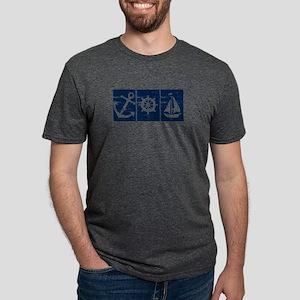 Anchor Boat Helm Wheel Sailboat T-Shirt