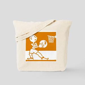 Retro Basketball Tote Bag