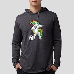 Dabbing Unicorn Soccer Funny D Long Sleeve T-Shirt