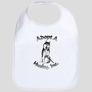 Adopt A Husky Logo Bib