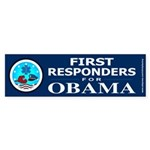 FIRST RESPONDERS FOR OBAMA Bumper Sticker (10 pk)