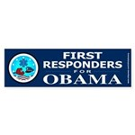 FIRST RESPONDERS FOR OBAMA Bumper Sticker
