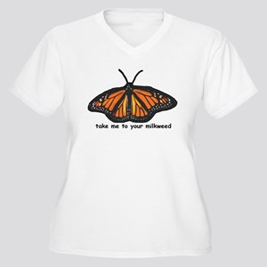 Monarch Butterfly Women's Plus Size V-Neck T-Shirt
