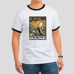 Maine Fishing Ringer T
