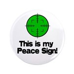 """My Peace Sign 3.5"""" Button (100 pack)"""