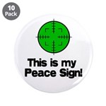 """My Peace Sign 3.5"""" Button (10 pack)"""