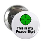 """My Peace Sign 2.25"""" Button"""