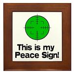 My Peace Sign Framed Tile