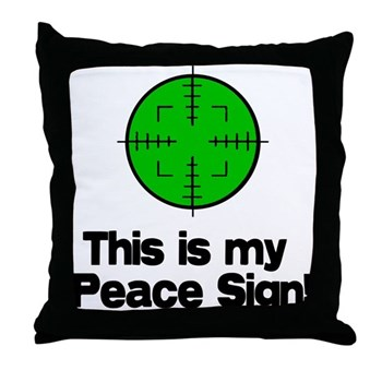 My Peace Sign Throw Pillow This Is My Peace Sign Gun Rights