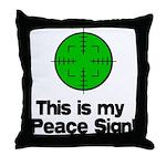 My Peace Sign Throw Pillow