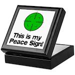 My Peace Sign Keepsake Box