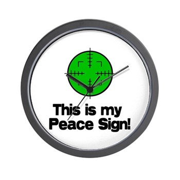 My Peace Sign Wall Clock This Is My Peace Sign Gun Rights