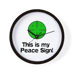 My Peace Sign Wall Clock