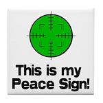 My Peace Sign Tile Coaster