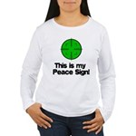 My Peace Sign Women's Long Sleeve T-Shirt