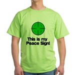 My Peace Sign Green T-Shirt