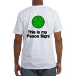 My Peace Sign Fitted T-Shirt