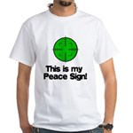 My Peace Sign White T-Shirt