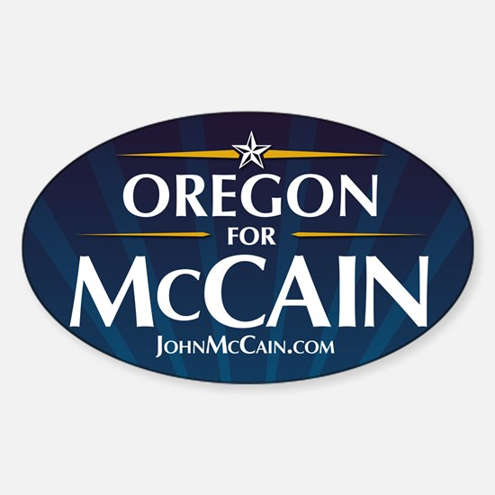 Oregon for McCain Oval Decal