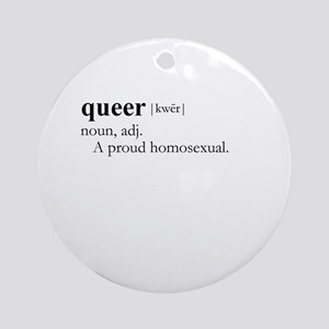 QUEER / Gay Slang Ornament (Round)