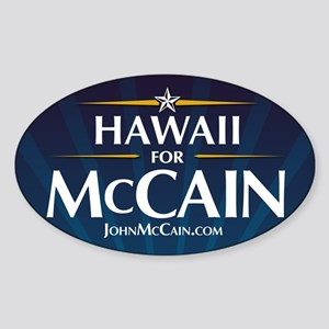 Hawaii for McCain Oval Sticker