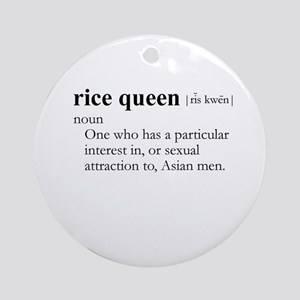 RICE QUEEN / Gay Slang Ornament (Round)