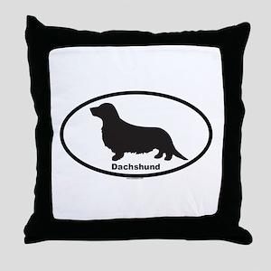 DACHSHUND LONGHAIR Throw Pillow