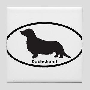DACHSHUND LONGHAIR Tile Coaster